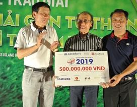 Giải golf từ thiện vì trẻ em trao tặng 500 triệu đồng cho Quỹ Khuyến học Việt Nam