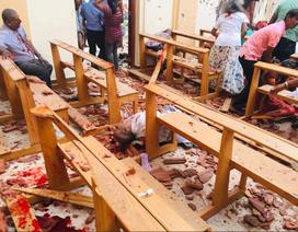 Hiện trường thảm kịch đánh bom khiến 160 người chết tại Sri Lanka