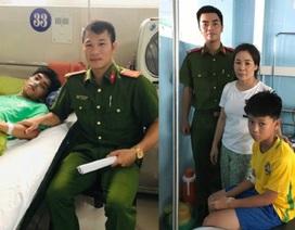 Chiến sỹ công an cứu 2 học sinh đuối nước trên biển