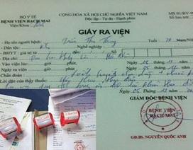 Phát hiện đường dây làm giả giấy tờ Bệnh viện Bạch Mai