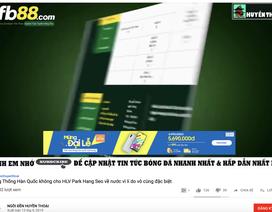 """Cá cược bóng đá đang """"trà trộn"""" vào các kênh Youtube bẩn"""