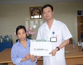 Bạn đọc Dân trí giúp người phụ nữ nghèo mắc ung thư trực tràng hơn 32 triệu đồng