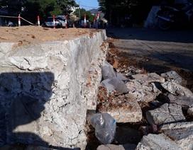 Bình Định: Dân chặn thi công vì đổ bê tông đường cao hơn nền nhà