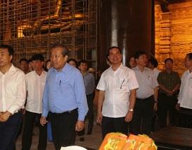 Phó Thủ tướng Trương Hòa Bình kiểm tra công tác chuẩn bị cho Đại lễ Vesak