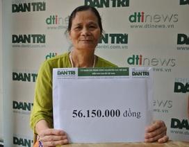 Cậu bé Dương bị ung thư vòm họng lần thứ 3 được bạn đọc Dân trí giúp hơn 56 triệu đồng