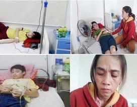 Xót xa cảnh vợ chồng phụ hồ có 3 đứa con mắc bệnh máu khó đông