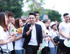 MC Sơn Lâm - Thụy Vân tham gia sự kiện vì môi trường không rác thải