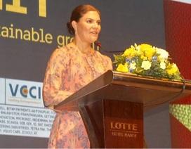 Công chúa kế vị Thụy Điển lạc quan về tiềm năng hợp tác với Việt Nam
