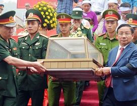 Truy điệu, an táng 7 hài cốt liệt sĩ hy sinh tại Lào