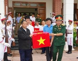 Thanh Hóa tiếp nhận 18 hài cốt liệt sĩ hy sinh tại Lào