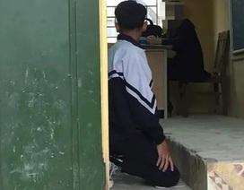 Tranh cãi hình ảnh nam sinh lớp 9 bị cô giáo bắt quỳ gối ngay trong lớp học