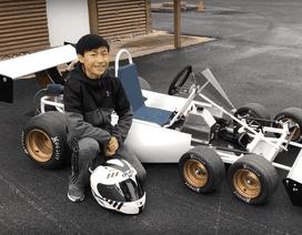 Cậu bé 13 tuổi chế tạo thành công xe đua go-kart 6 bánh