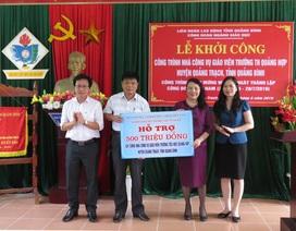 Bộ GD-ĐT hỗ trợ 500 triệu xây nhà công vụ cho giáo viên vùng khó khăn tại Quảng Bình