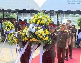 Lễ đón 98 hài cốt liệt sĩ quân tình nguyện và chuyên gia Việt Nam hy sinh tại Lào