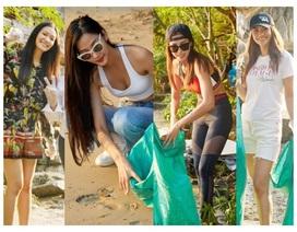 Hoàng Thùy, Minh Tú, Thùy Dung... đội nắng dọn rác trên đảo hoang Hạ Long