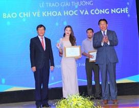 Báo Dân trí đạt giải ba Giải thưởng báo chí Khoa học và Công nghệ