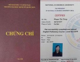 Trường ĐH Kinh tế Quốc dân cấp chứng chỉ ngoại ngữ trái phép