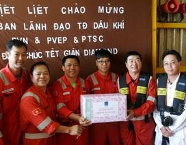 Tổng Giám đốc PVN kiểm tra công tác đảm bảo an toàn và chúc Tết trên các công trình biển của PVEP Lô 01&02