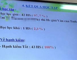 Yêu cầu giải trình lớp có 42/43 học sinh đạt loại giỏi
