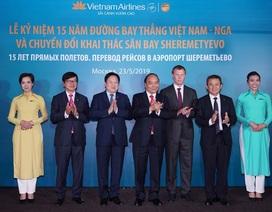 """Thủ tướng: Vietnam Airlines là """"sứ giả"""" cho sự hợp tác hữu nghị Việt - Nga"""