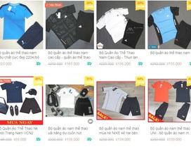 Bắt quả tang gần 1.200 sản phẩm quần áo nghi giả nhãn hiệu Nike, Adidas