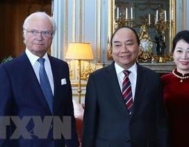 Thủ tướng Nguyễn Xuân Phúc hội kiến Quốc vương Thụy Điển