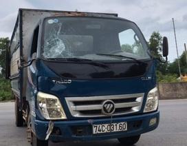 Thượng uý CSGT bị xe tải tông trong lúc làm nhiệm vụ đã tử vong