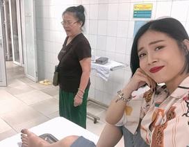 MC Hoàng Linh bị tai nạn lật ngón chân, phải nhập viện