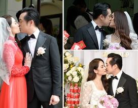 Nhạc sĩ Dương Khắc Linh liên tục hôn vợ Sara Lưu trong lễ vu quy