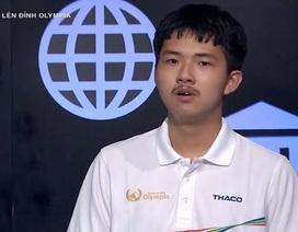 Nam sinh chuyên Nguyễn Huệ lội ngược dòng, giành vé thi Quý Olympia