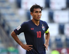 Đội tuyển Thái Lan có nguy cơ mất chân sút số 1 ở trận gặp tuyển Việt Nam
