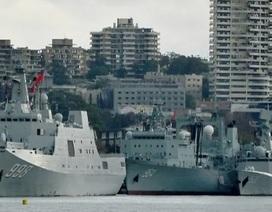 """Người Australia """"giật mình"""" vì 3 tàu chiến Trung Quốc xuất hiện tại cảng Sydney"""