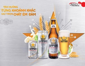 Sapporo: Vị bia êm đằm - Dẫn lối cuộc vui