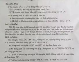 Quảng Ngãi: Đề Toán tuyển sinh lớp 10 có 2 bài giống một đề thi thử?