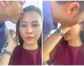 """Cường Đô la """"cưỡng hôn"""" Đàm Thu Trang khi đang livestream"""