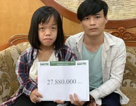 Bạn đọc Dân trí tiếp tục giúp đỡ bé gái bị teo mật bẩm sinh gần 28 triệu đồng