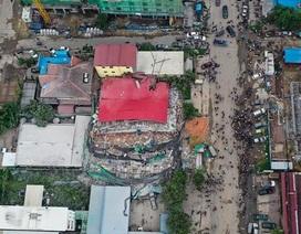 Sập tòa nhà do Trung Quốc đang xây dựng ở Campuchia, 30 người nghi bị chôn vùi