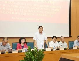 Đoàn kiểm tra Bộ Chính trị làm việc với Hà Nội về xây dựng đội ngũ cán bộ cấp chiến lược