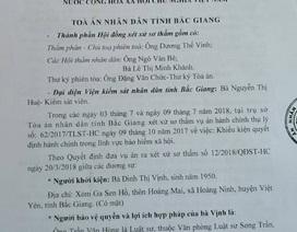 Xử phúc thẩm vụ người dân kiện Giám đốc Bảo hiểm xã hội Bắc Giang ra toà