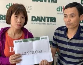 Nữ sinh lớp 12 may mắn thoát chết được bạn đọc Dân trí giúp đỡ hơn 40 triệu đồng