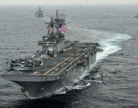 Mỹ đưa nhóm tàu chiến chở hàng nghìn lính và máy bay áp sát Iran