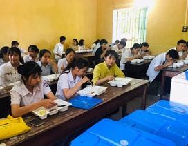 Thí sinh được điểm thi hỗ trợ bữa ăn trưa miễn phí