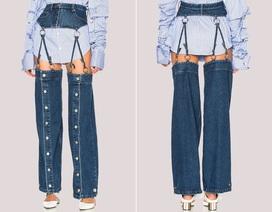 23 mẫu thời trang jeans lạ lùng phải thấy mới dám... tin là có thật