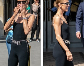 Celine Dion khoe dáng siêu thon với đồ ôm sát