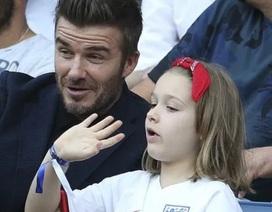 David Beckham đưa con gái nhỏ đi xem đá bóng
