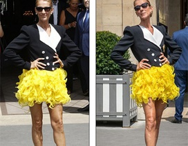 Celine Dion khoe chân dài với váy ngắn