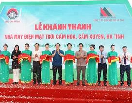 Nhà máy điện mặt trời 1.500 tỷ đồng đầu tiên tại Hà Tĩnh đi vào hoạt động