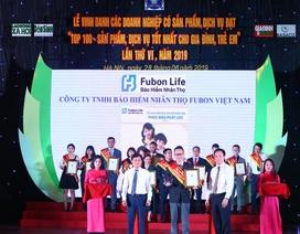 """Fubon Life Việt Nam được trao """"Bảng Vàng"""", 5 lần lọt """"Top 100 - Sản phẩm tốt nhất cho gia đình, trẻ em"""""""