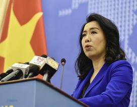 Việt Nam lên tiếng về việc Trung Quốc diễn tập bắn tên lửa trên Biển Đông