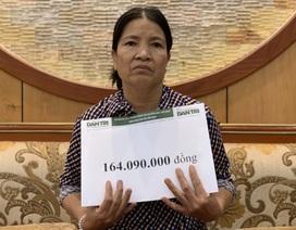 Gần 165 triệu đồng đến với vợ chồng ung thư chia nhau suất cơm từ thiện